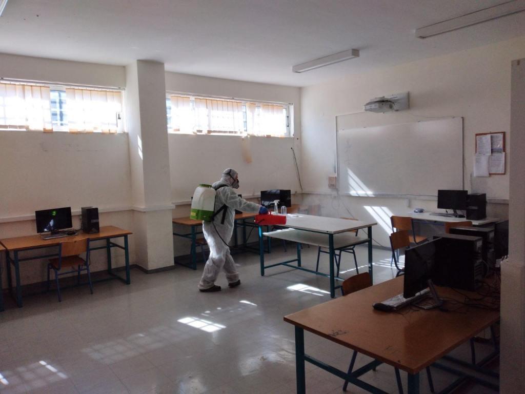 Δήμος Ανατολικής Σάμου: Ολοκληρώθηκαν οι εργασίες καθαριότητας και απολύμανσης στα Λύκεια