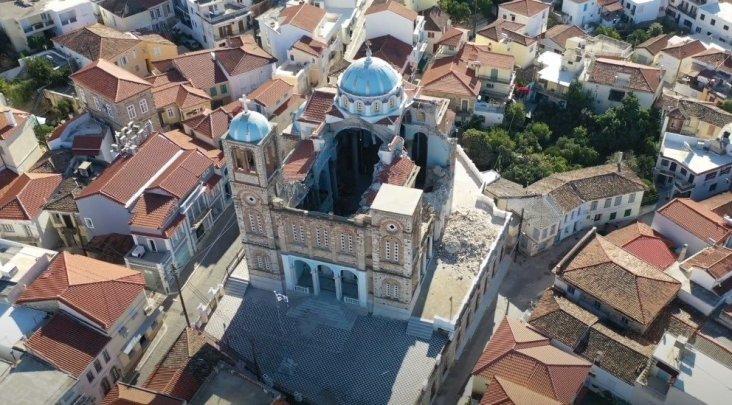 Ξεκίνησαν οι εργασίες αποκατάστασης στο ναό της Κοιμήσεως της Θεοτόκου στο Καρλόβασι