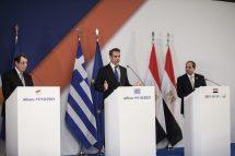 Τριμερής Ελλάδας – Κύπρου – Αιγύπτου: Αυστηρά μηνύματα στην Τουρκία στην κοινή διακήρυξη των τριών ηγετών
