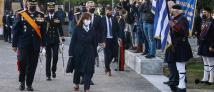 Θεσσαλονίκη: Η Σακελλαροπούλου στην τελετή έπαρσης της σημαίας