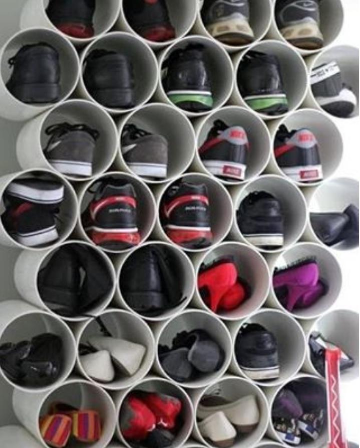 pvc-pipe-shoe-storage