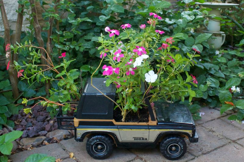 Old-toy-flower-planter