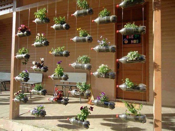 hanging-bottles-plastic-flower-planters