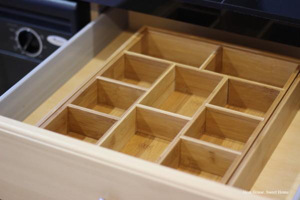 Bamboo drawer organizer