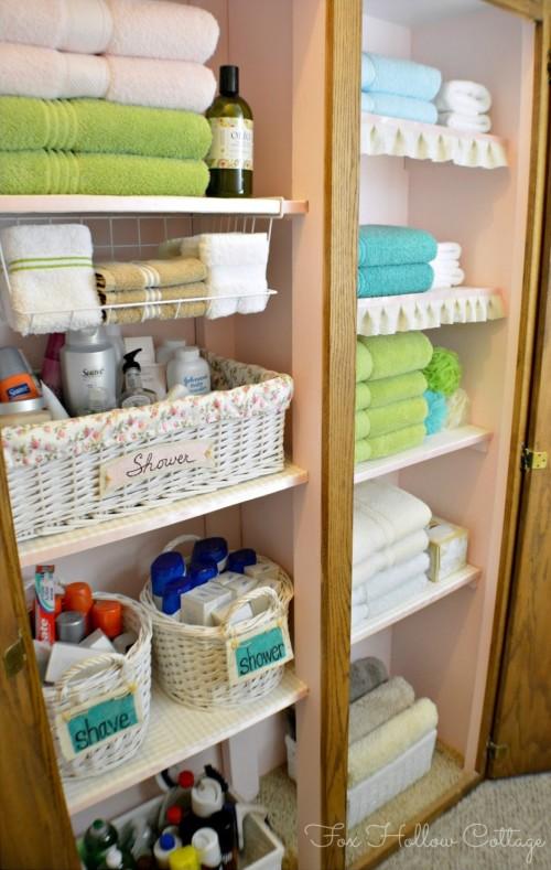 Linen Closet Organization Ideas