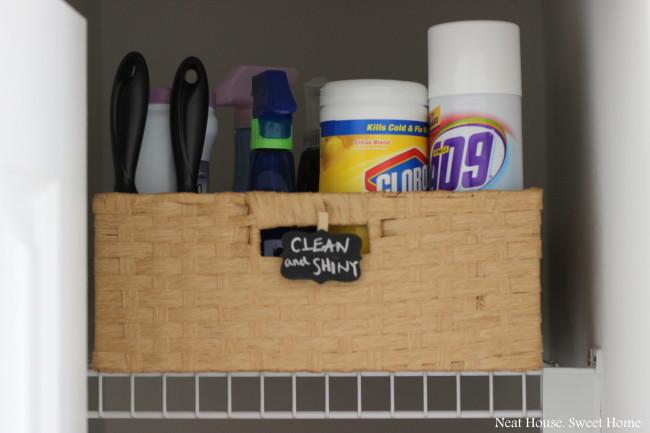 quick easy bathroom closet organization