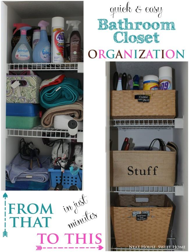 Bathroom Closet Organization Free Printable Labels