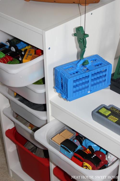 Toys organization with Ikea Trofast