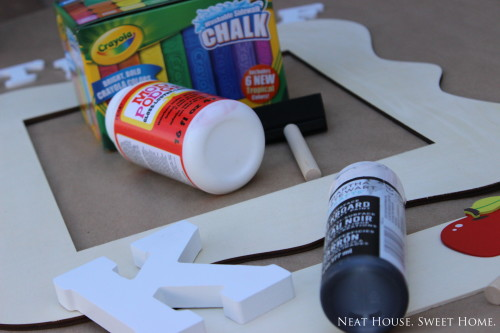 back to school photo prop diy