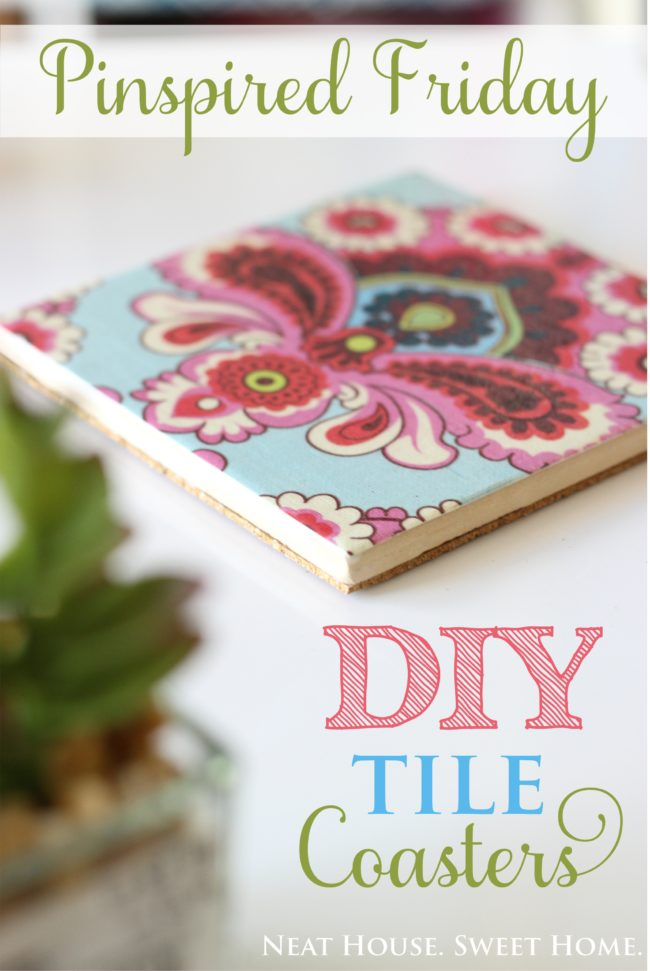 DIY Tile Coasters - Pinspired Friday