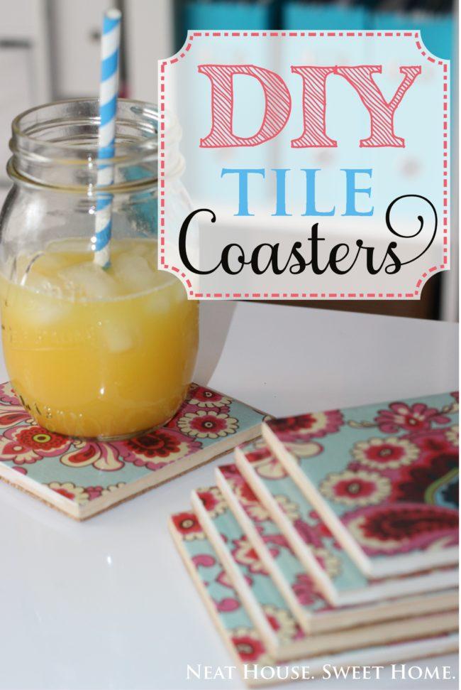 DIY Tile coasters