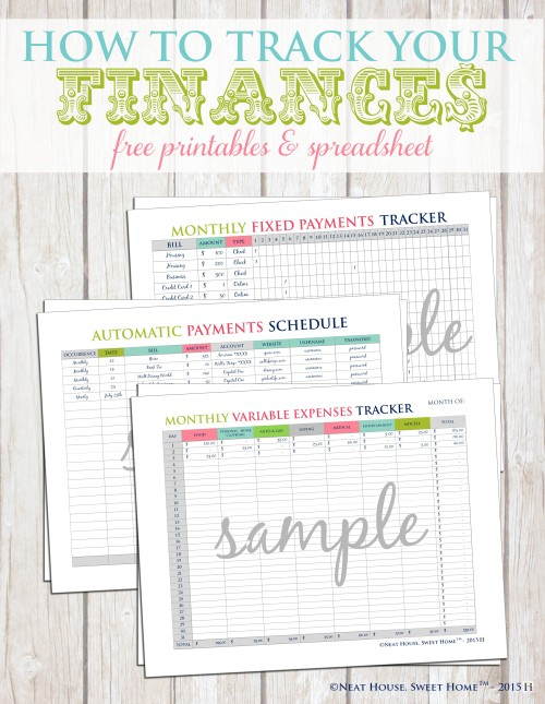 how to track your finances free printable neat house sweet home