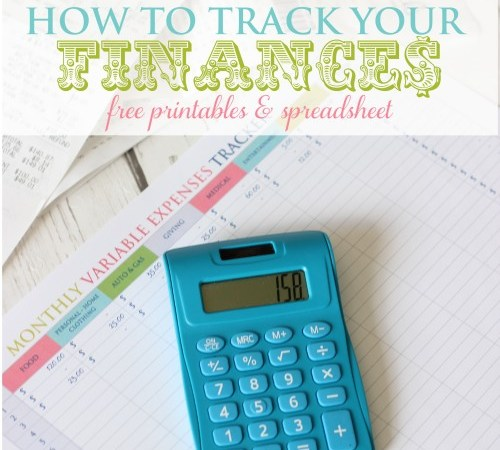 How To Track Your Finances – Free Printable