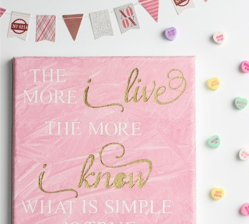 DIY Valentine's Day Wall Art with Silhouette Cameo