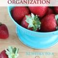 Pantry, fridge and freezer organization.