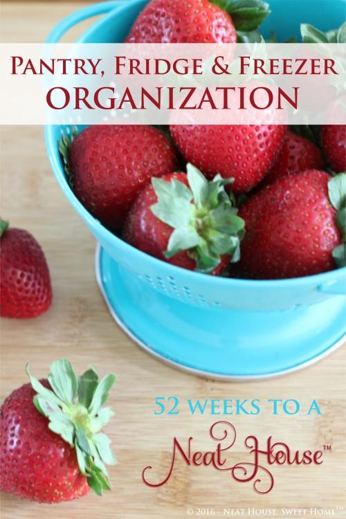 Week 1 of 52 - Pantry, fridge and freezer organization.