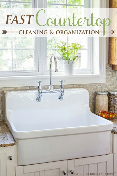 Fast Countertop Cleaning and Organization