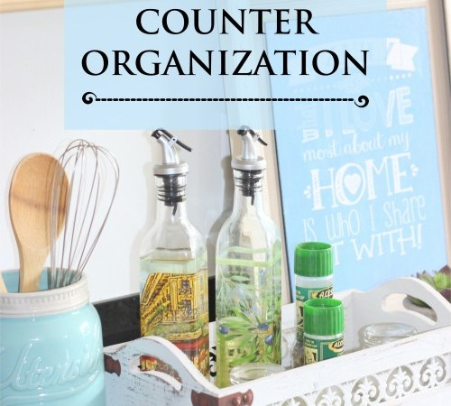 Kitchen Counter Organization  – Week 5