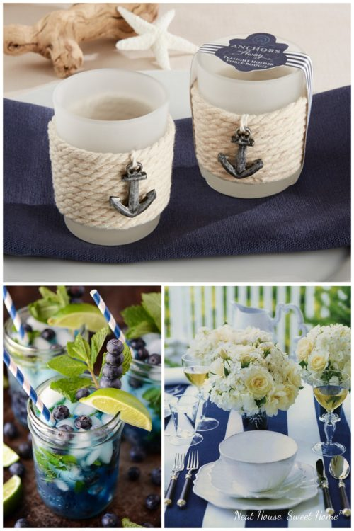 Nautical bridal shower, perfect theme for the summer.