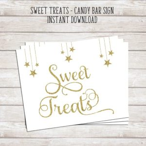 Sweet Treats Candy Bar Sign - Instant Download