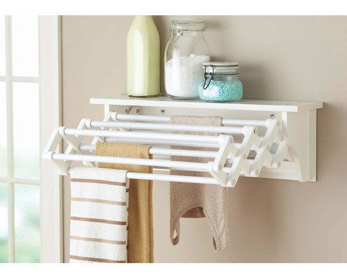 Wall-mounted drying rack - Azure Inspired Laundry Room Design Board