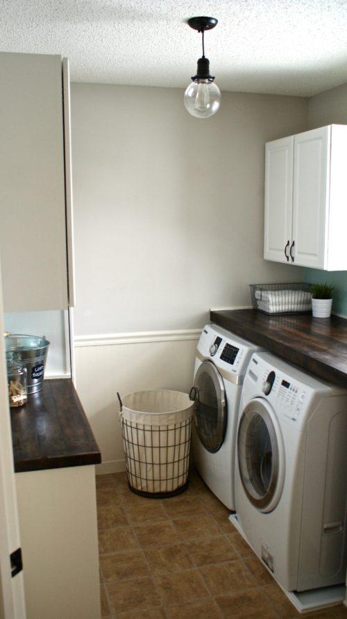 Azure Inspired Laundry Room Design Board