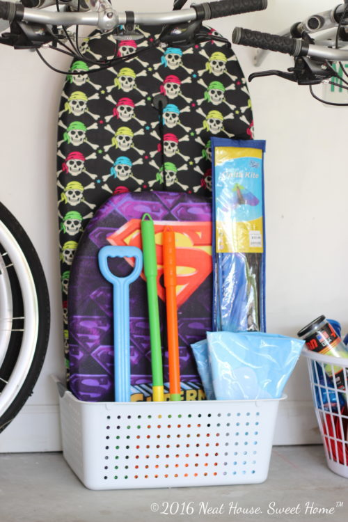 How to install vertical storage in the garage walls. Clean up your garage with Rubbermaid® FastTrack® Garage Organization System. #GarageCleanUp #ad