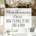 Monochromatic Décor   Tips and Tricks