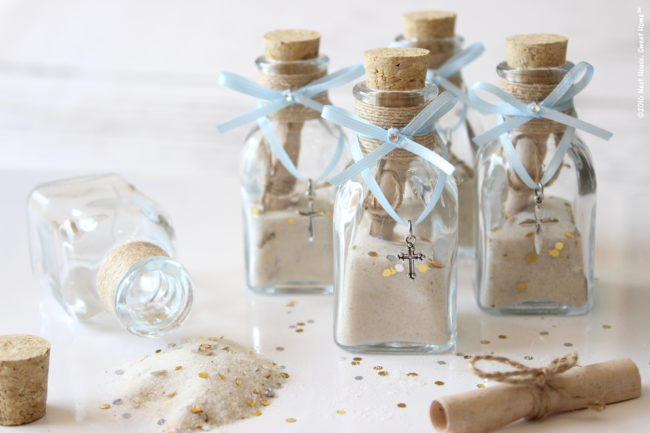 DIY Footprints in The Sand Baptism Favors