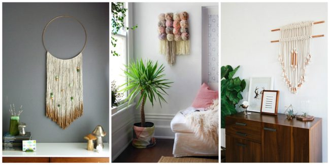 What is the coziest fiber on this world? Well, none other than beautiful and soft yarn. You can use it to create stunning decorative elements for the walls.