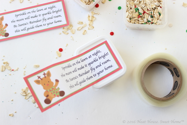 Magic reindeer food poem printable christmas favor instant these beautiful magic reindeer food favors are easy to make and the perfect takeaway for a forumfinder