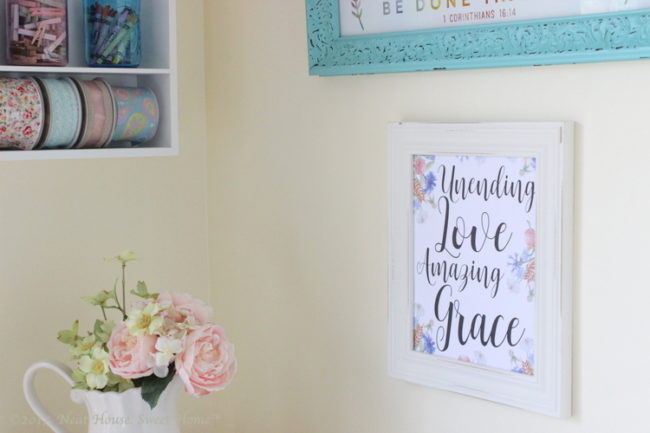Unending Love, Amazing Grace Free Printable Wall Art - My new favorite creative space.