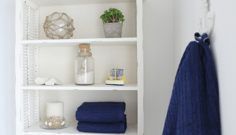 Cottage Chic Shared Guest Bathroom Makeover