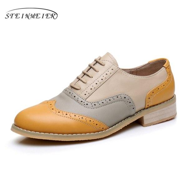 Women Oxford Flat Genuine Leather 5