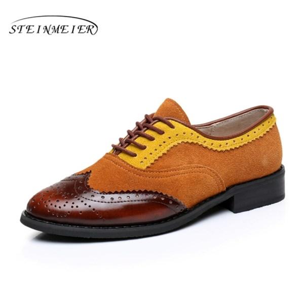 Women Oxford Flat Genuine Leather 7