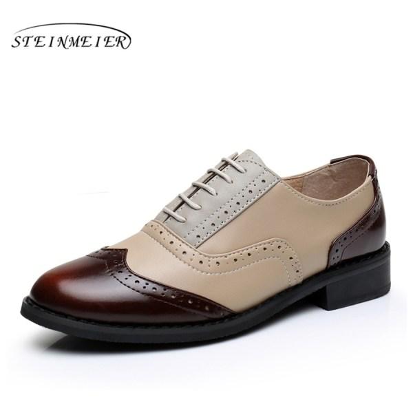 Women Oxford Flat Genuine Leather 8