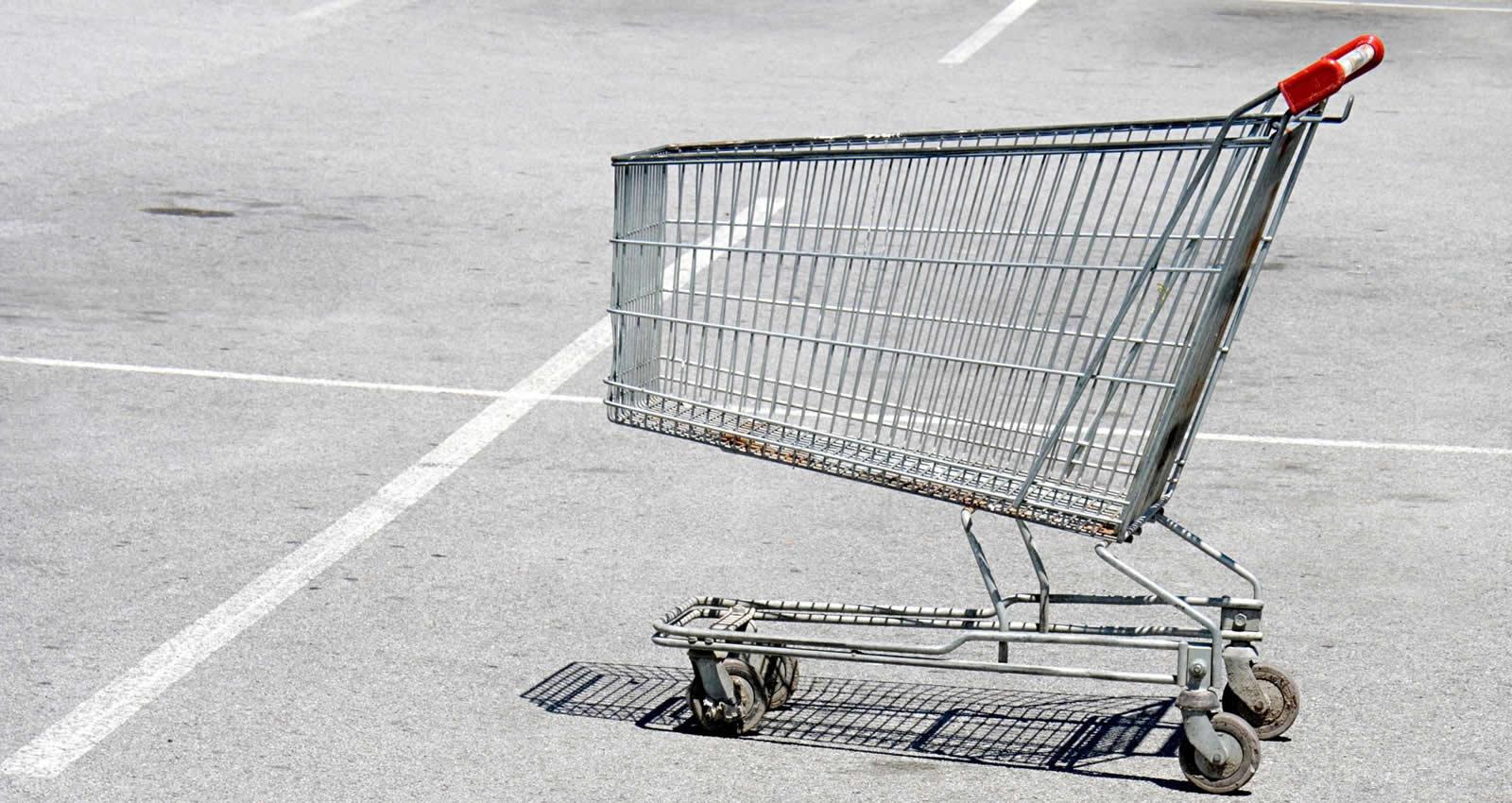 Image result for grocery cart parking lot