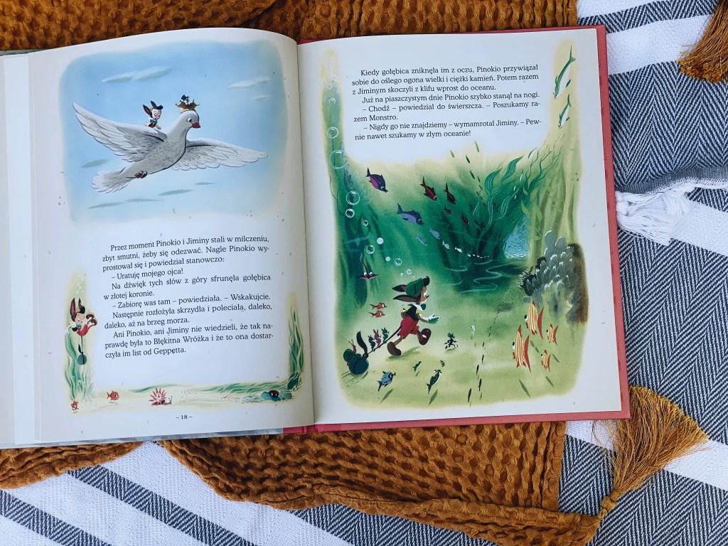 zdjęcie książki Pinokio z serii Disney Nostalgia