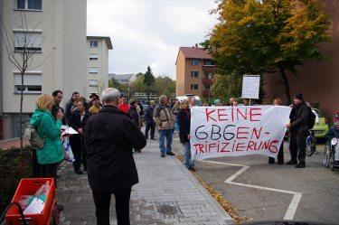 Die meisten Demonstranten haben bis zum Ende durchgehalten.