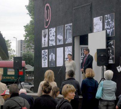 Kulturamtsleiterin Sabine Schirra und Kulturbürgermeister Michael Grötsch   Foto: Ruth Fanderl