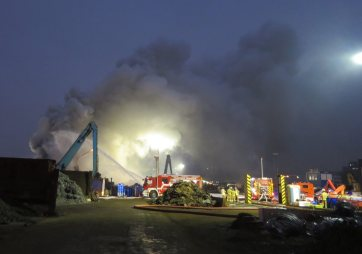 Großbrand bei Recyclingunternehmen | Foto: Stadt Mannheim