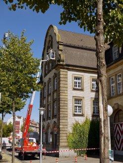 Installation der Überwachungskameras an der Alten Feuerwache | Foto: M. Schülke