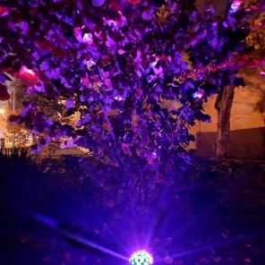 Lichtinstallation im urbane Garten auf dem Zeppelinplatz | Foto: privat
