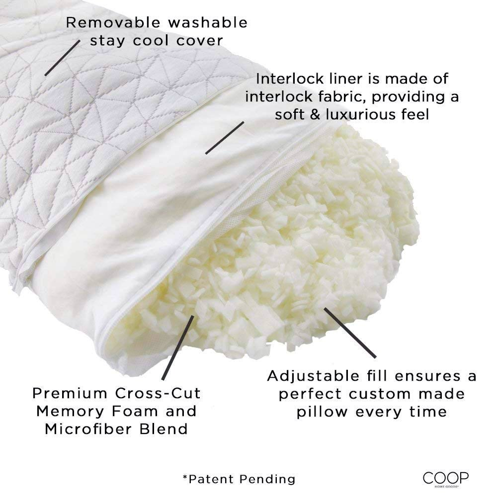 adjustable memory foam pillow any