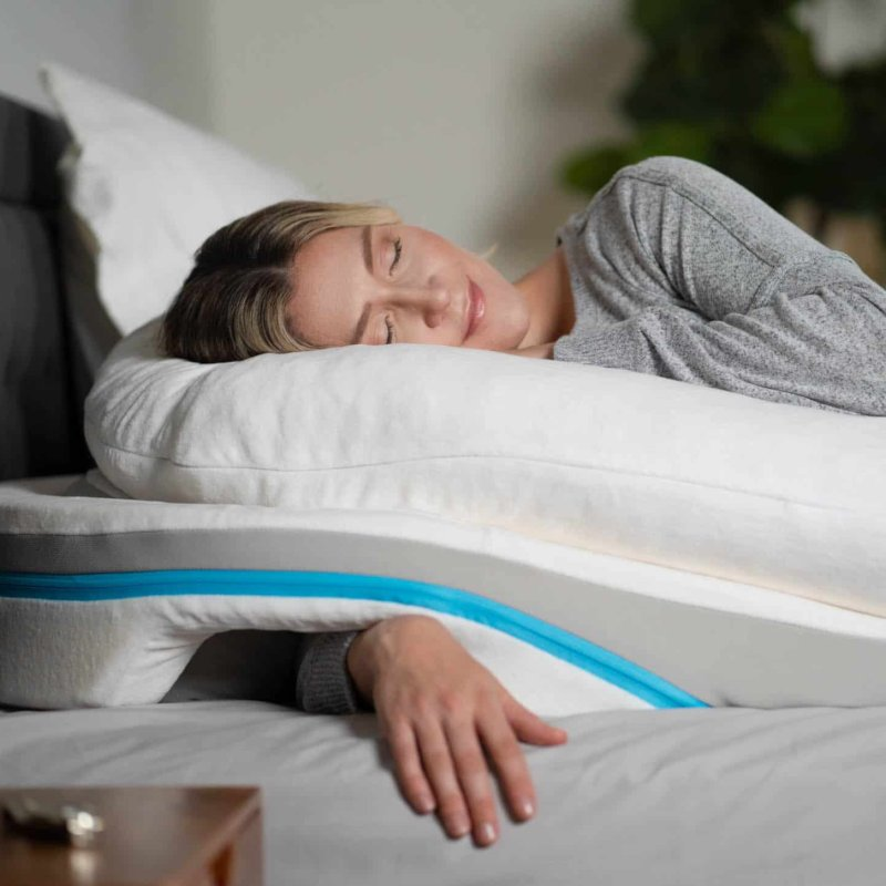 shoulder pillow ergonomic design to
