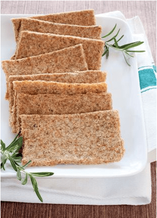 Rosemary Cracker from Almond Pulp