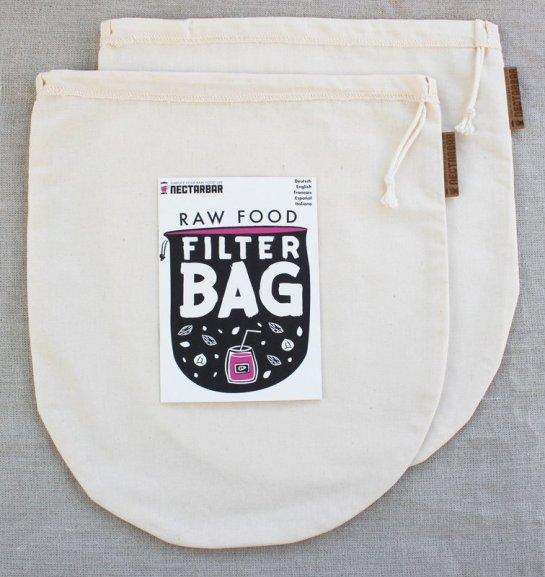 Nectarbar Nussmilchbeutel Baumwolle Doppelpack