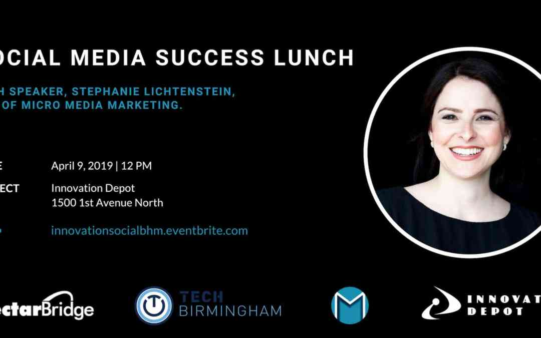 Social Media Success Lunch Birmingham April 9