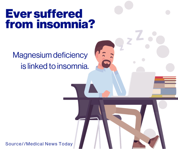 Magnesium deficiency is linked to insomnia