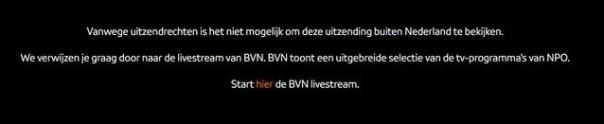 Vanwege uitzendrechten is het niet mogelijk om deze uitzending buiten Nederland te bekijken